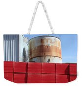 Red Rust And Blue Weekender Tote Bag