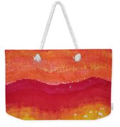 Red Saddle Original Painting Weekender Tote Bag