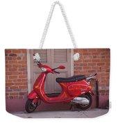 Red Scooter Weekender Tote Bag