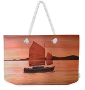 Red Sea With Chinese Boat Weekender Tote Bag