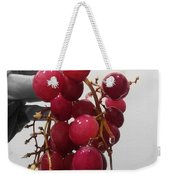 Red Seedless Grape Cluster Weekender Tote Bag