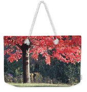 Red Shade Tree Weekender Tote Bag
