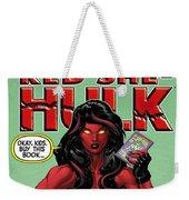 Red She-hulk Weekender Tote Bag