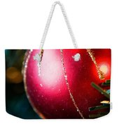 Red Shiny Ornament Weekender Tote Bag
