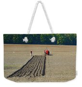 Red Shirt Red Tractor Two  Weekender Tote Bag