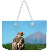Red-shouldered Hawk With Mt. Mclaughlin In The Background Weekender Tote Bag