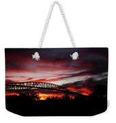 Red Skies At Pleasure Island Bridge Weekender Tote Bag