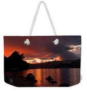 Red Skies Over Loch Rannoch Weekender Tote Bag