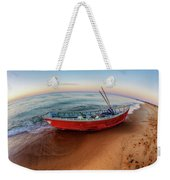 Red Skiff Weekender Tote Bag