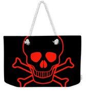 Red Skull And Crossbones Weekender Tote Bag