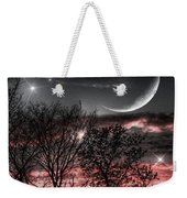 Red Sky Moon Weekender Tote Bag