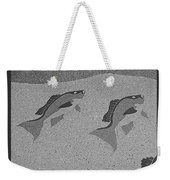 Red Snapper Inlay In Grayscale Weekender Tote Bag