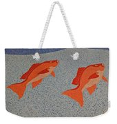 Red Snapper Inlay On Alabama Welcome Center Floor Weekender Tote Bag