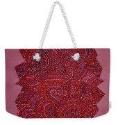 Red Spiral Weekender Tote Bag