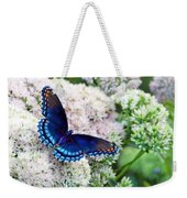 Red Spotted Purple Butterfly On Sedum Weekender Tote Bag