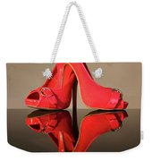 Red Stiletto Shoes Weekender Tote Bag