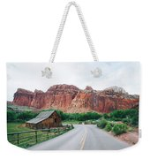 Red Stone Mountain  Weekender Tote Bag