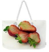 Red Strawberry Weekender Tote Bag