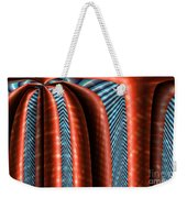 Red Structure Weekender Tote Bag