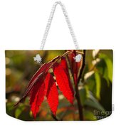 Red Sumac Leaves Weekender Tote Bag