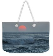 Red Sun With Wave Weekender Tote Bag