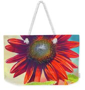 Red Sunflowers At Sundown Weekender Tote Bag
