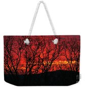 Red Sunrise Over The Ozarks Weekender Tote Bag