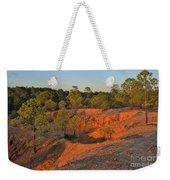 Red Sunset Cliffs Weekender Tote Bag