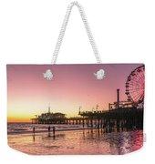 Red Sunset In Santa Monica Weekender Tote Bag