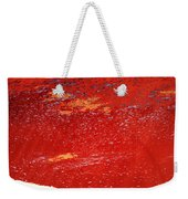 Red Surf On The Beach Weekender Tote Bag