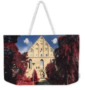 Red Surreal Abbey Ruins Weekender Tote Bag