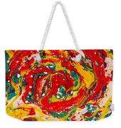 Red Swirl Weekender Tote Bag