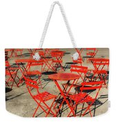 Red Tables And Chairs Weekender Tote Bag