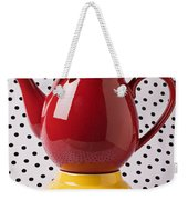 Red Teapot With Butterfly Weekender Tote Bag