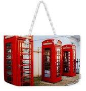 Red Telephone Booths London Weekender Tote Bag
