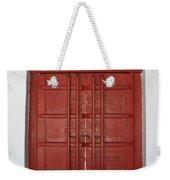 Red Temple Door Weekender Tote Bag