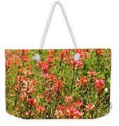 Red Texas Wildflowers Weekender Tote Bag