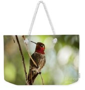 Red Throated Hummingbird Weekender Tote Bag