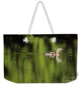 Red Throated Loon Weekender Tote Bag