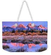 Red Tip Teton Reflection Panorama Weekender Tote Bag