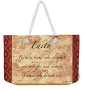 Red Traditional Faith Weekender Tote Bag