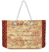 Red Traditional Fruit Of The Spirit Weekender Tote Bag by Debbie DeWitt