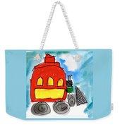Red Train Weekender Tote Bag