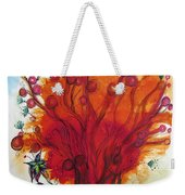 Red Tree And Friends Weekender Tote Bag