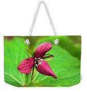 Red Trillium Wildflower Weekender Tote Bag