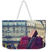 Red Truck In Paris Street Weekender Tote Bag