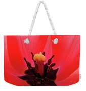 Red Tulip Art Print Inside Tulips Flowers Baslee Troutman Weekender Tote Bag