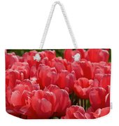 Red Tulip Buds Crest The Earth Weekender Tote Bag