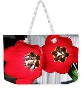 Red Tulip Duo Weekender Tote Bag