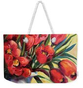 Red Tulip Kiss Weekender Tote Bag